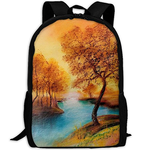 Phyllis Walker Backpack Landscape Lake Tree Print Fashion College Double Shoulder Bag Travel Outdoor Camping Crossbody Bags for Men Women by Phyllis Walker
