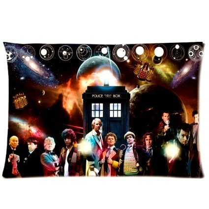ABCHomes Cooleat Doctor Who Figures Pillowcase Zippered Pillow Case 16x24 Cotton Standard Size(Two (10th Doctor Dress)