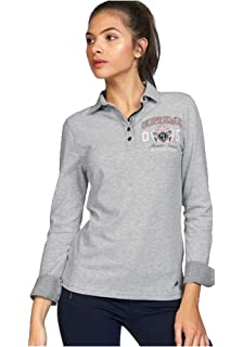 TOM TAILOR Polo Team Damen Langarm Poloshirt Polo Shirt Langarmshirt Kragen a4eeaa6909