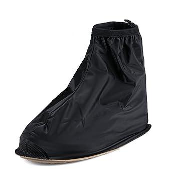 Buwico - Cubrezapatillas para la lluvia, para zapatillas de ciclismo, 1 par, alta calidad, impermeable y antideslizante, plástico, negro, ...