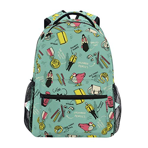 - Fashion Design School Backpack Large Capacity School Bag Canvas Casual Travel Daypack Perfect for Women Men Girls Boys