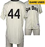 Hector Sanchez San Diego Padres Game-Used #44 White Pinstripe Uniform vs Boston Red Sox on September 7, 2016 - Fanatics Authentic Certified