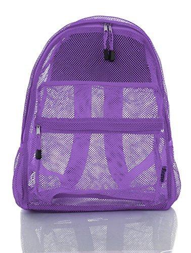 Clear Mesh Net Seehough Backpack school & Travel Bag - (Lavanda Purple) [並行輸入品]   B078WX5Y2R
