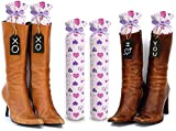My Boot Trees, Boot Shaper Stands for Closet Organization. Many Patterns to Choose from. 1 Pair. (Purple Hearts)
