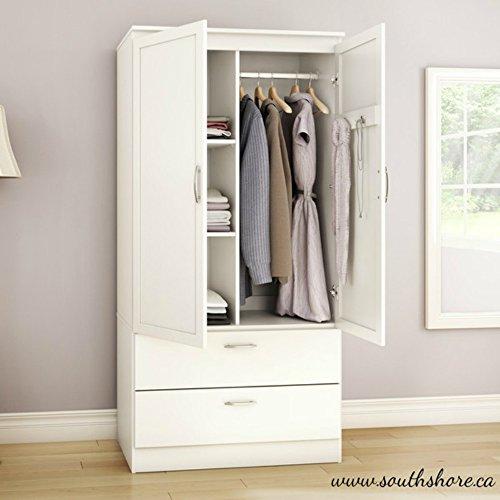 White 2 Door Wardrobe - 7