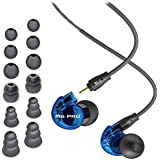 MEE Audio M6 PRO Limited Edition Blue In-Ear Monitors w/ Detachable Cables & extra Silicon/Flange tips - Bundle