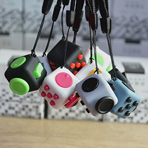 FIDGET DICE Relieves Stress and Anxiety Attention Mini Cube With Keychain - 2.2cm (Color 2) - 2