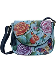 Anuschka Hand Painted Leather WomenS Medium Flap-Over Convertible
