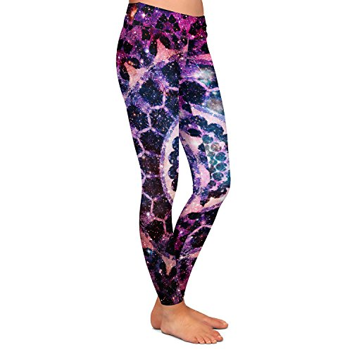 DiaNoche Designs Athletic Yoga Leggings from by Iris Lehnhardt - Cosmic Love by DiaNoche Designs