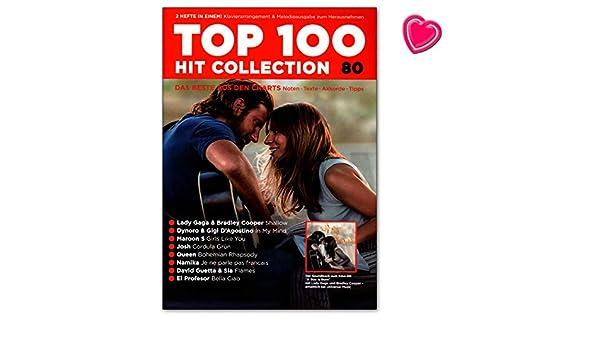 Top 100 Hit Collection 80 Lady Gaga, Maroon 5, El Profesor: Notas ...
