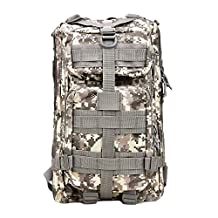 Military Tactical Rucksack, TOPQSC Waterproof 600D Oxford fabric Outdoor Tactical Bag Shoulder Expandable Hunting Tactical Daypack & Sport Casual Backpack for Camping Trekking Travel Hunting Small/Medium