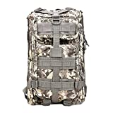 Tactical Backpack - TOPQSC Military Tactical Backpack, Waterproof 600D Oxford Fabric Outdoor Tactical Bag Shoulder Expandable Hunting Tactical Daypack Sport Casual Backpack for Camping Trekking Hunting 30L Small ACU