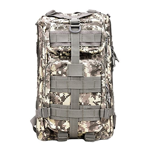 TOPQSC Military Tactical Backpack, Waterproof 600D Oxford Fabric Outdoor Tactical Bag Shoulder...
