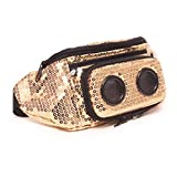 JammyPack Super Diamond Gold Bluetooth Speaker Fanny Pack, Gold Sequin, One Size