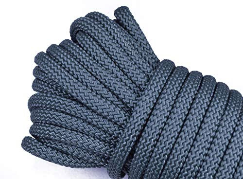 Polypropylene/Nylon Utility Rope - Cargo, Crafts, Tie-Downs, Marine, Camping, Swings, Hiking - Foliage Green 50 Feet