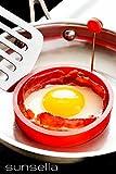 """Sunsella 3"""" Silicone Egg & Pancake Rings - 3 Pack"""