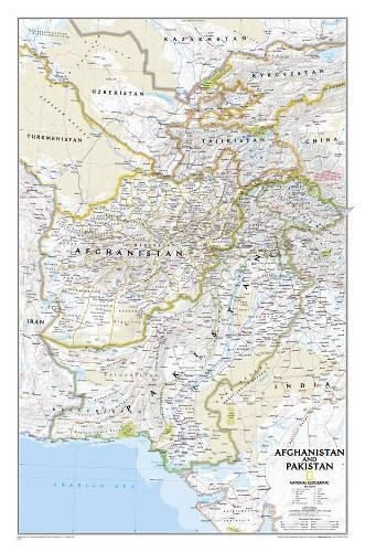 National Geographic: Afghanistan, Pakistan Wall Map (21.5 x 32.5 inches) (National Geographic Reference Map)