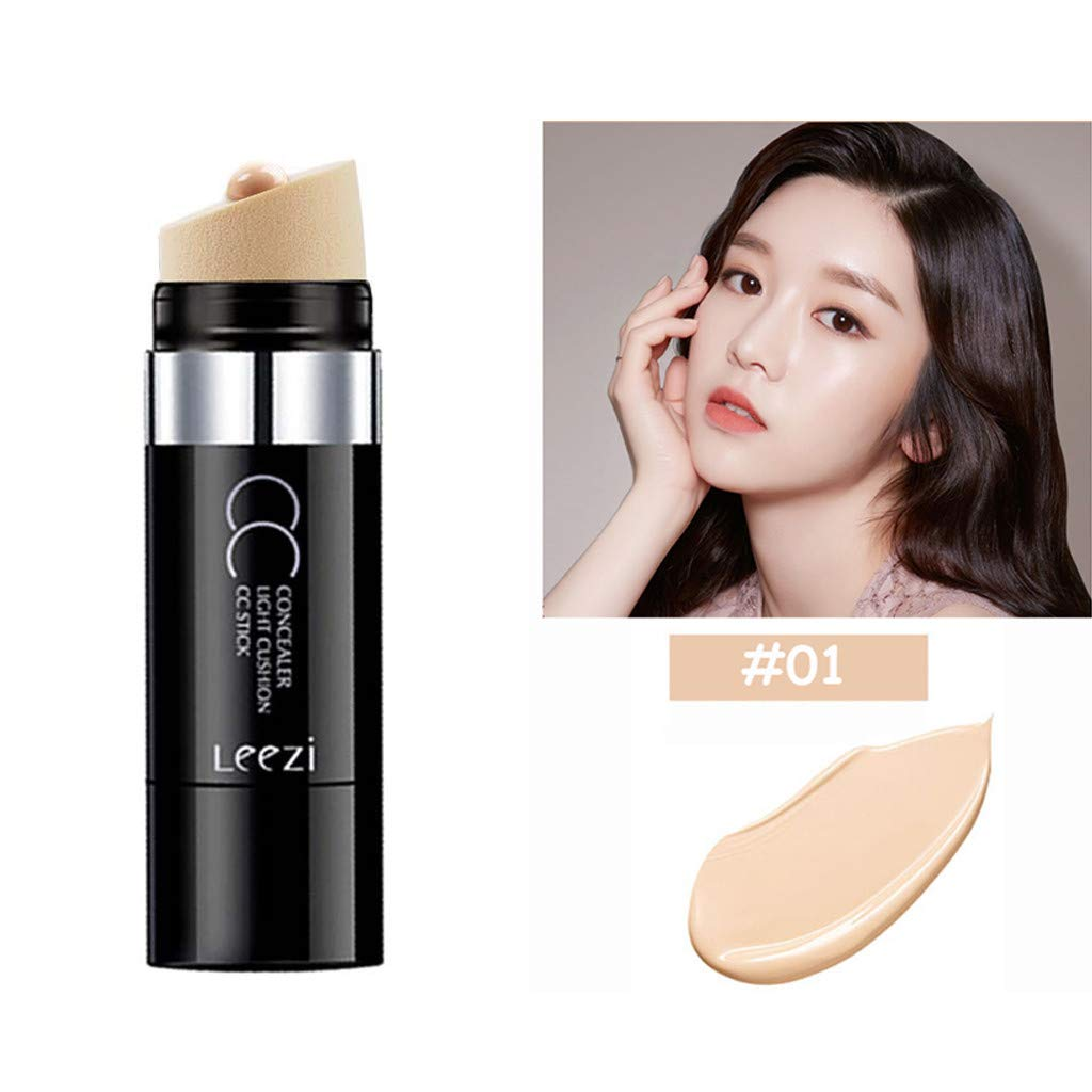 Hoshell New 2 Colors Concealer Palette Face Cream Contour Palette Primer Concealer Stick (A)