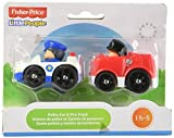 Fisher Price Little People - Wheelies - Police Car & Fire truck