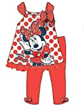 Disney Minnie Mouse Baby Girl Polka Dot T Shirt and Solid Legging Outfit - Red