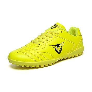 CJC Zapatos Unisexo Adolescentes Formación Chicos Chicas Zapatillas con Clavos Fútbol Botas Fútbol Entrenadores (Color