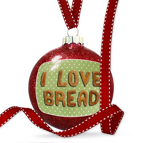 (NEONBLOND Christmas Decoration I Love Bread Biscuits Tart Bakery Ornament)