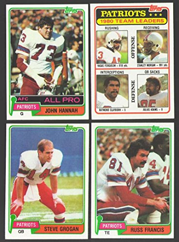 1981 Topps Football Team Set - NEW ENGLAND PATRIOTS