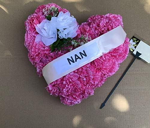 Heart Shaped Funeral Wreath for Nan