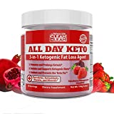 All Day Keto 3-in-1 Ketogenic Fat Loss Agent-Ignite Ketosis, Propel Your Keto Diet & Combat Keto Flu   MCT+Prebiotic+Electrolytes+Organic Energy & Mineral Complex All Natural Gluten Free & Delicious!