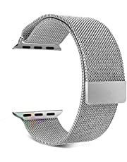 Magnetic Milanese Loop Stainless Steel Metal Strap Watch Bands For Apple Watch 42MM Silvery