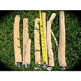 Waynes Medium Bottlebrush Wood Bird Cage Perch, My Pet Supplies