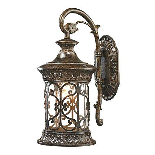 "ELK Lighting 45080/1 Orleans Collection 1 Light Outdoor Sconce, 17 x 8 x 11"", Hazelnut Bronze"