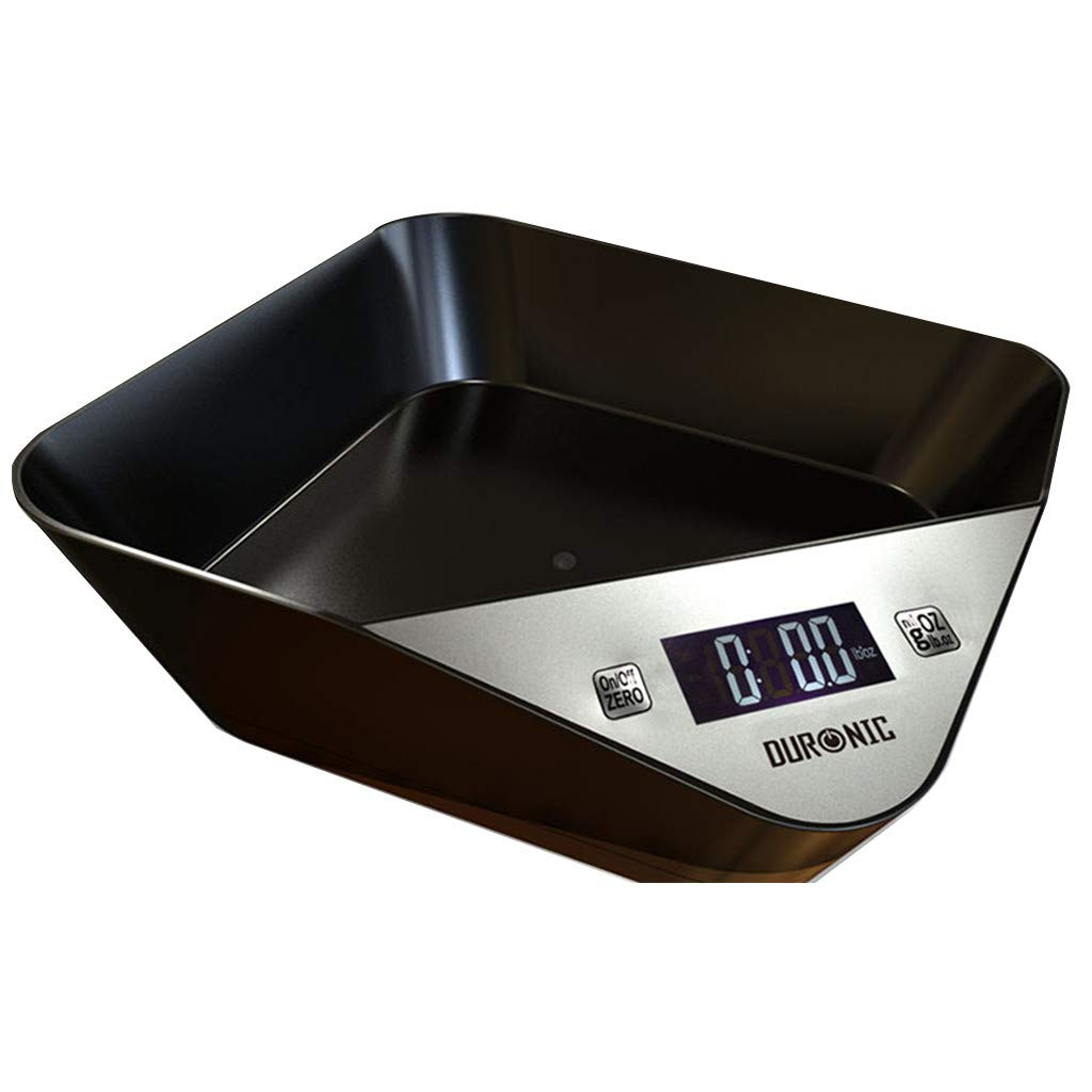 Meetsunshine Digital Scale, 2019New Pet Edible Bowl Type Electronic Scale Kitchen Scale Gram Accurate 5kg-1g (Black) by Meetsunshine
