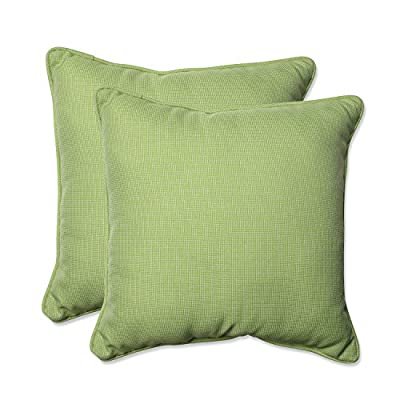 """Pillow Perfect Outdoor/Indoor Tweed Throw Pillow (Set of 2), 18.5"""", Lime - Includes two (2) outdoor pillows, resists weather and fading in sunlight; Suitable for indoor and outdoor use Plush Fill - 100-percent polyester fiber filling Edges of outdoor pillows are trimmed with matching fabric and cord to sit perfectly on your outdoor patio furniture - patio, outdoor-throw-pillows, outdoor-decor - 51VrUk5iQnL. SS400  -"""