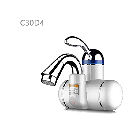 Kitchen Bathroom Instantaneous Water Heater Tap Stainless Steel Heating Tankless Electric Water Heater Faucet,C30D4
