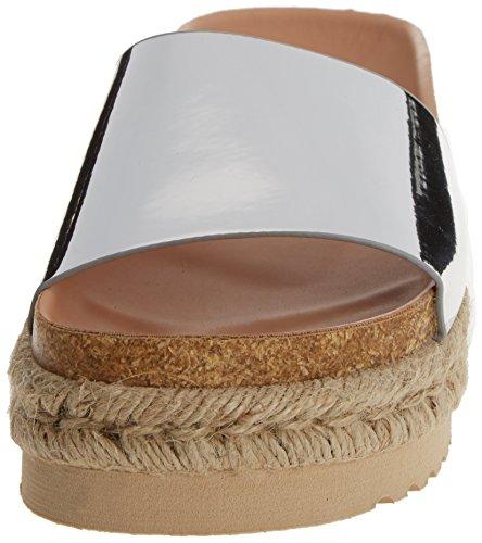 Plataforma Sandalias Para Plateado Mtng Plana Con Mujer Plata Dakota mirror wgH6f