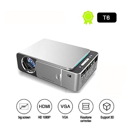 Amazon.com: JHDUID Proyector portátil inalámbrico T6 Full HD ...