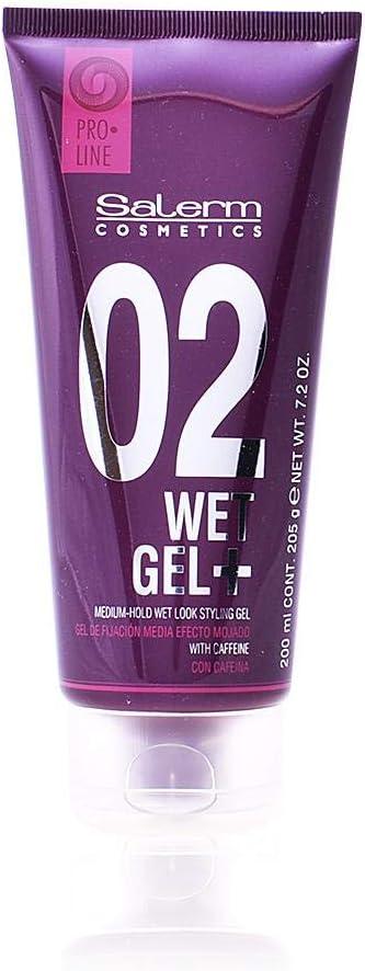 Salerm Cosmetics Wet Plus 02 - Gel de fijación, 200 ml
