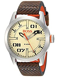 BOSS Orange Men's 1513418 OSLO Analog Display Quartz Brown Watch