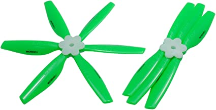 Nylon Green 4 Pairs with Adapter Rings uxcell RC Propellers CW CCW 6045 6x4.5 Inch 3-Vane Fixed-Wing for Airplane