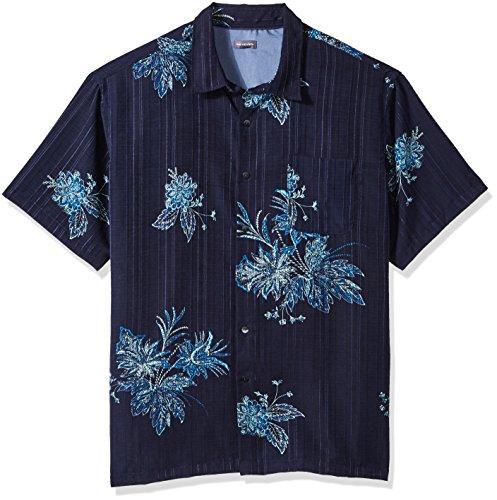 - Van Heusen Men's Big and Tall Air Short Sleeve Button Down Tropical Print Shirt, Blue Underground, 3X-Large
