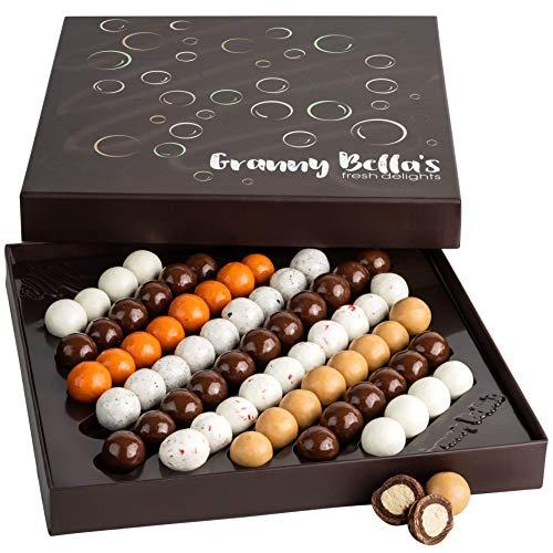 Granny Bella's Christmas Chocolate Gift Baskets for Women   9 Flavors 60 + Malted Milk Balls OU-D Kosher Easter Egg…
