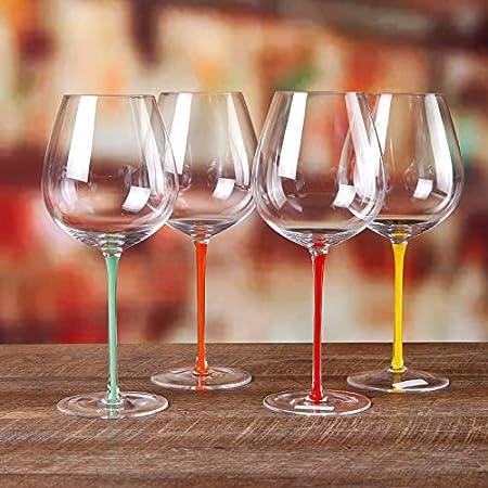 XKMY Copa de vino tinto de gama alta de Borgoña Copa de vino tinto Cristal de Gran Vientre Burdeos Champagne Copa de lujo para banquetes de boda (Color: 20 Burdeos Cu 15 Borde)