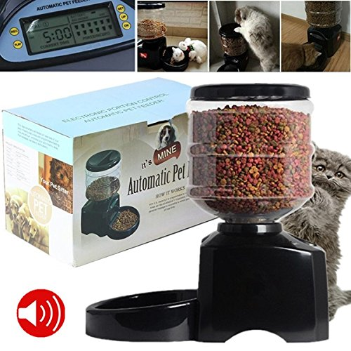 5.5L Automatic Pet Dog Cat Feeder Food Portion Dish Bowl Dispenser LCD Display by My Toots