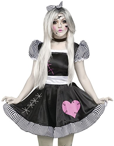Ladies Sexy Broken Dead Rag Doll + Tights Halloween Fancy Dress Costume Outfit UK 10-26 Plus Size (UK 10-12) for $<!--$46.19-->