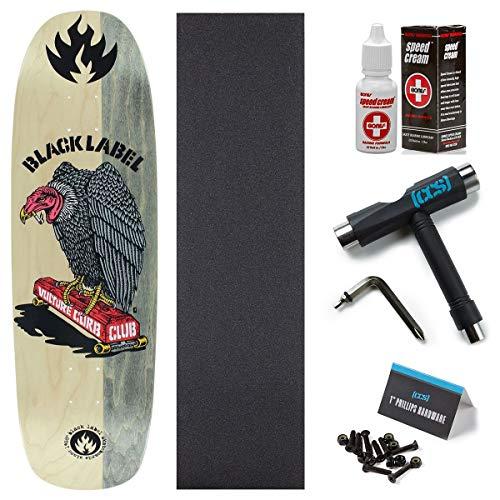 Black Label Deck - Black Label Vulture Curb Club Skateboard Deck - Natural/Grey - 8.88