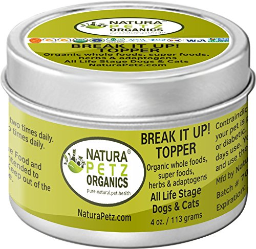 Natura Petz Organics Stone Breaker - Flavored Meal Topper to Help Eliminate Stones in Dogs & Cats