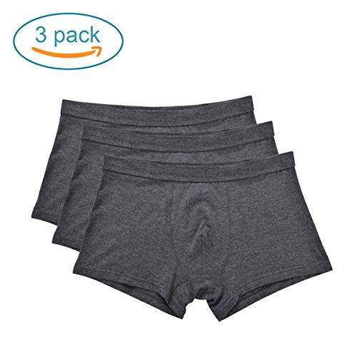 Mens Underwear Pack of 3 Cotton Men's Boxer Briefs Breathable Boxers,Memorygou US L