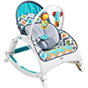 Fisher-Price Newborn-to-Toddler Rocker, Glacier Wave [Amazon Exclusive]