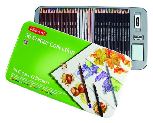 Derwent Colored Pencil Collection, Metal Tin, 36 Count (0700213) by Derwent